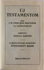 Új Testamentom es Zsoltárok (HU)